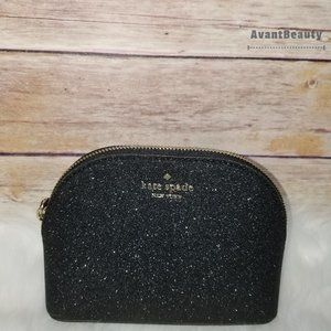 Kate Spade Lola Small Cosmetic Dome Case Black New